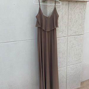 Show Me Your MuMu Taupe maxi dress